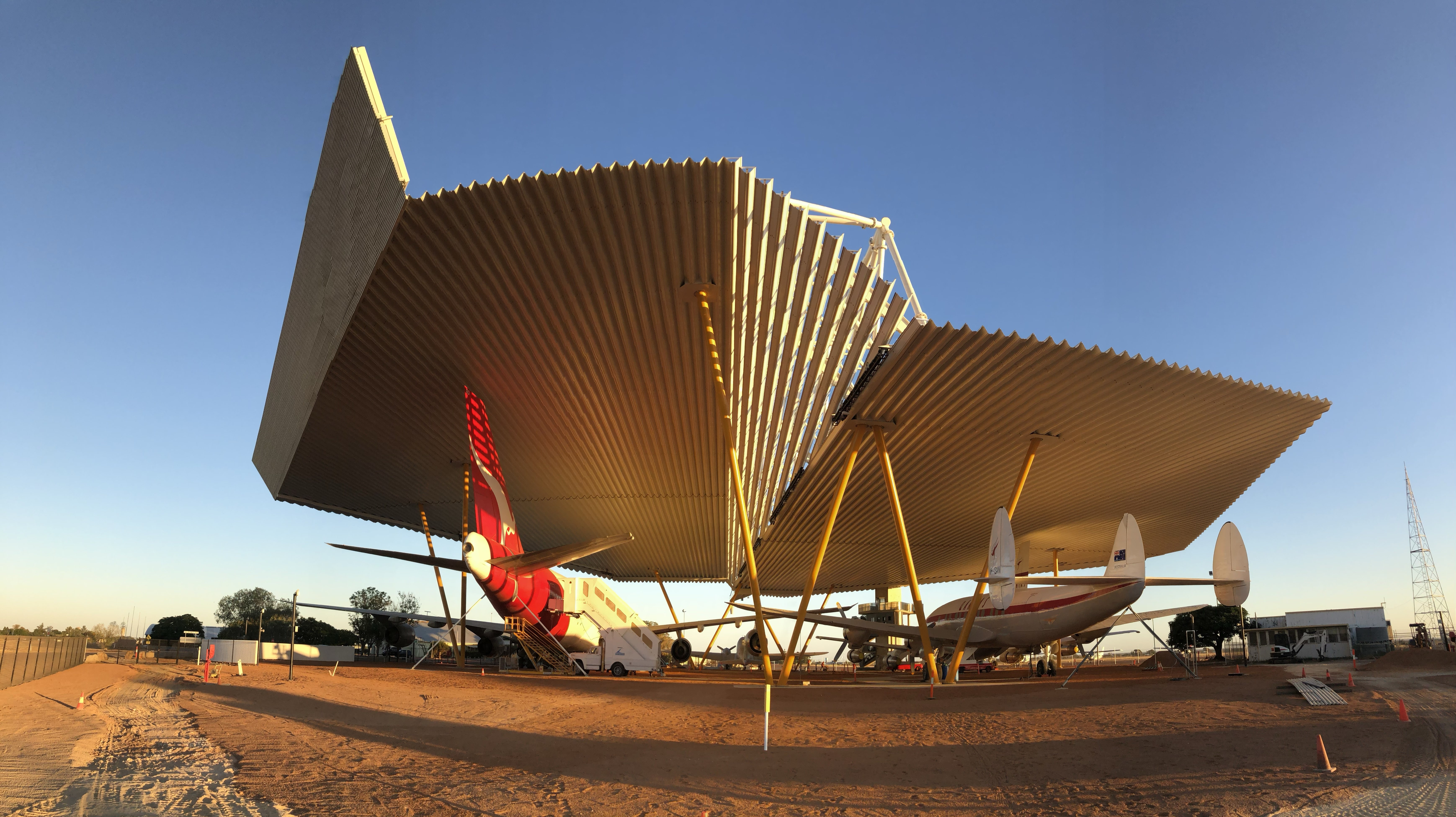 PC take protection through the roof at Qantas Museum